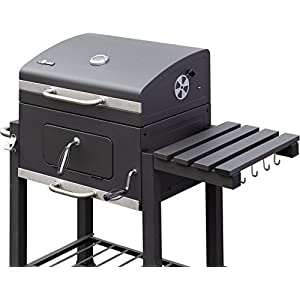 El Fuego® Holzkohlegrill Ontario, Grau, 115x107x67 cm