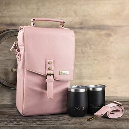 Insulated Wine Carrier Bag w/ Tumblers