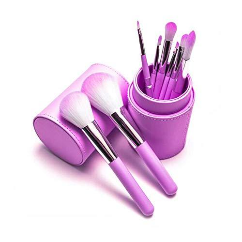 Guotail Maquillage Brosse beauté Maquillage Kit Ombre à paupières Brosse Maquillage Seau Brosse Blush,Purple