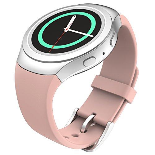 MoKo Gear S2 Watch Correa Reemplaza Deportiva de Silicona Suave para Samsung Galaxy Gear S2 SM-R720 / SM-R730 Smart Watch - Rose Vendimia (No se Ajuete a Gear S2 Classic SM-R732)
