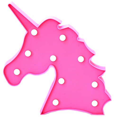 Carousel Home and Gifts - Luz Nocturna LED para niños, diseño de Unicornio, Color Rosa