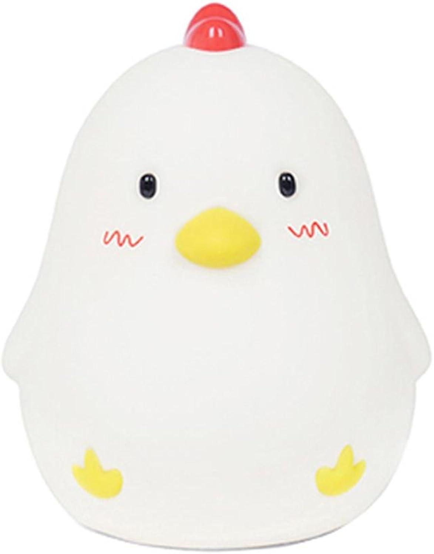 MIWEN Kreative Persönlichkeit Schöne Huhn LED Studie Kinderzimmer Schlafzimmer Nachttischlampe Einstellbare Helligkeit 128  124  154mm B07DZCNCBT     | Tragen-wider
