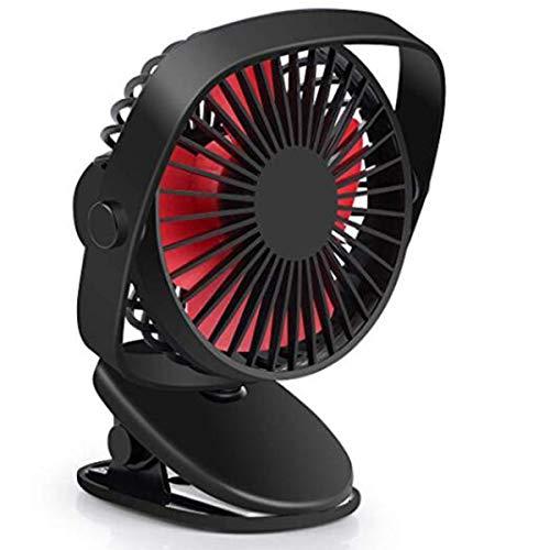 ROSEBEAR Ventilador Usb Ventiladores Personales Ventiladores de Escritorio Ventiladores de Enfriamiento Silencioso Ventilador de Clip con 3 Velocidades de Viento para Viajes de Oficina en
