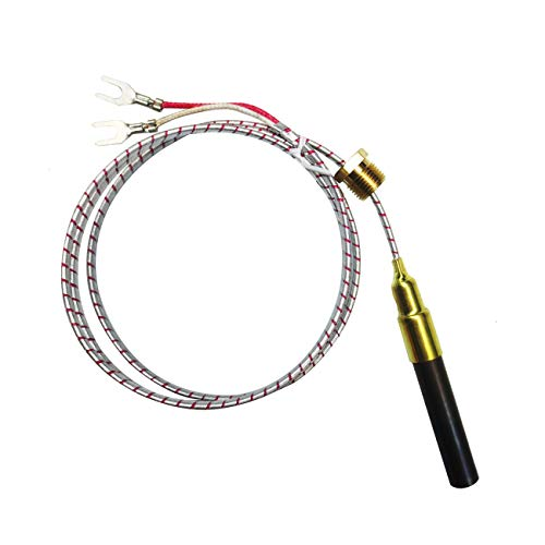 750mv Thermocouple for Heat Glo Heatilator,Fireplace Thermopile Replacement Fireplace&Stove Accessories for Fire Gas Stoves Heat&Glo Gas Stoves Oven Water Heater&Frying Furnace (24