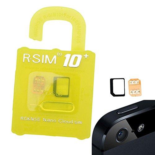 R-SIM10+ 最新 iPhoneiPhone6s / 6s plus / 6 / 6plus iPhone5S / 5C/ 5 対応 Unlock Nano-SIMロック解除...