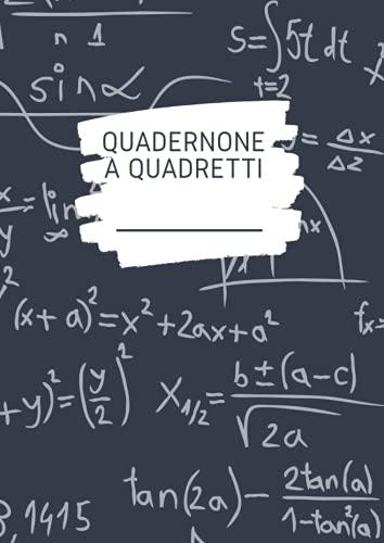 Quadernone a quadretti: Ideale per scuola, per matematica, geometria e materie scientifiche (formato A4 21.59x27.92 cm)