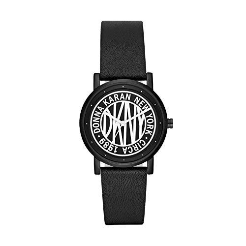 DKNY Damen Armbanduhr SoHo Zifferblatt Leder NY2765
