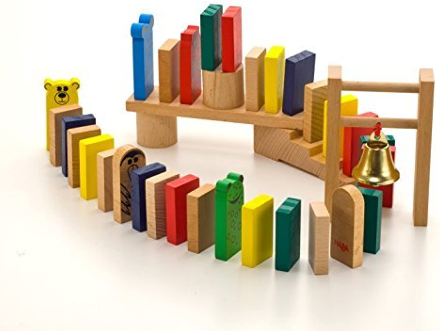 HABA Go-Go Wooden Dominoes 204 Piece Play Set by HABA