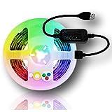 K2 Home Tech - Gledopto Zigbee 5V USB IP65 Waterproof LED Light Strip Kit- Works with Google Home and Alexa Through Your Zigbee hub- 2M 5V Strip and Controller Included