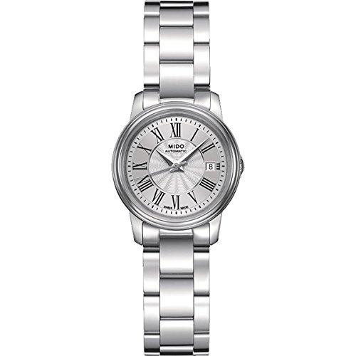 Mido Baroncelli III Lady M0102081103300 - Orologio da polso da donna, cinturino in acciaio inox colore argento
