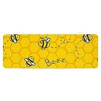 筆箱 ミツバチイエロープリント Bee ペンケース プラスチック 鉛筆ケース 小物収納ケース プラペンケース 多機能 半透明 文房具ポーチ 文具バッグ