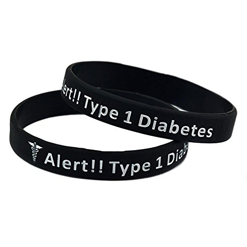 North King Silicone bracelet diabetes warning hand strap set of 2 pieces