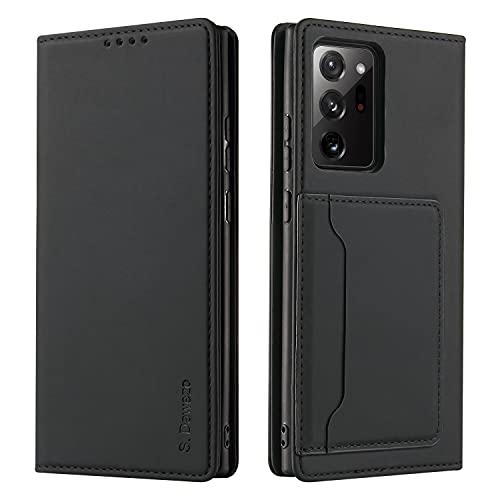 S. Dawezo Funda Samsung Galaxy Note 20 Ultra Tapa, PU Cuero Libro...