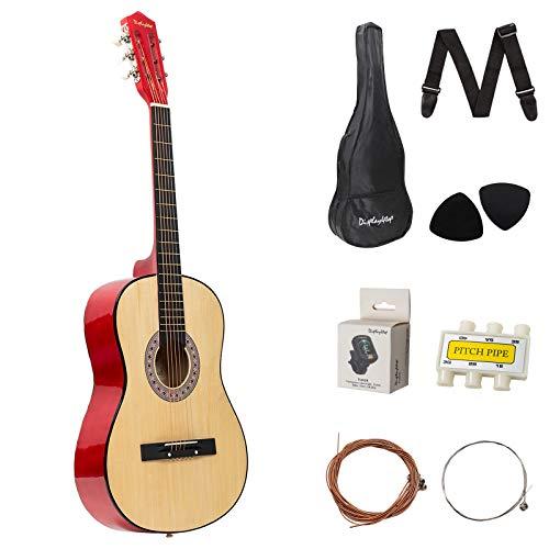Dawoo Guitarra Acústica De 38 Pulgadas, Conjunto De