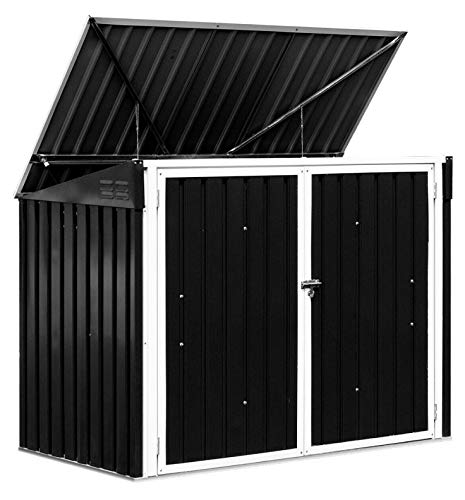 HomyDelight Trash Can & Wastebasket, Horizontal Storage Shed 68 Cubic Feet for Garbage Cans