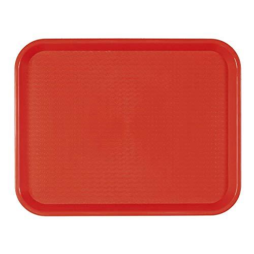 García de Pou 132.04 Bandeja Fast Food, 27.5 x 35.5 Cm, Rojo