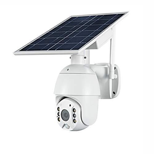 ZJ 4G SIM 1080p HD Panel Solar De HD Vigilancia Al Aire Libre Impermeable WiFi IP Cámara Inteligente Hogar De Dos Vías Voz Intrusión Alarma Monitor De Seguridad(Color:4G with 32G)