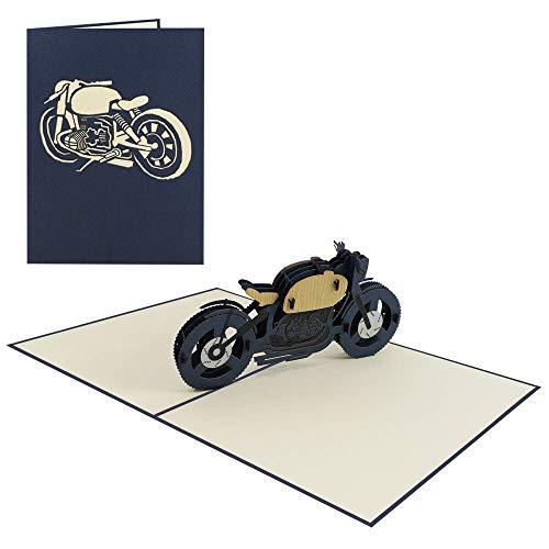 Biker Geburtstagskarte Motorrad 3D Pop Up Karte Gutschein Führerschein Glückwunsch - Motorad 2/010