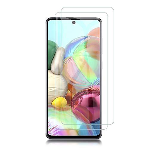 QULLOO Panzerglas für Samsung Galaxy A71, 9H Hartglas Schutzfolie HD Bildschirmschutzfolie Anti-Kratzen Panzerglasfolie Handy Glas Folie für Samsung Galaxy A71 / Galaxy Note 10 Lite