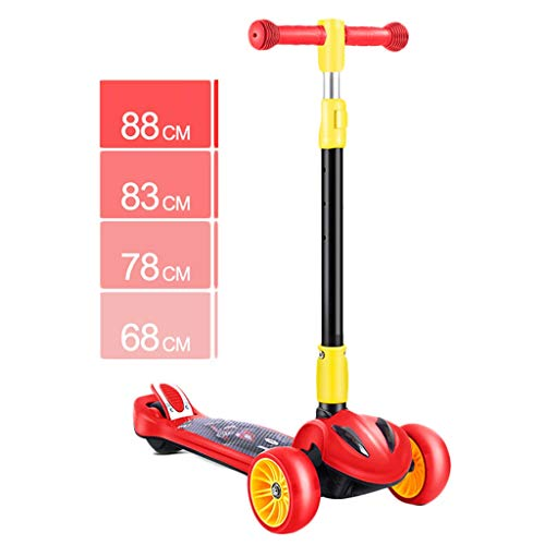 Purchase Scooter NLIAN- 3 Wheel for Kids, with Light Up Wheels Kick for Toddlers with Adjustable Hei...