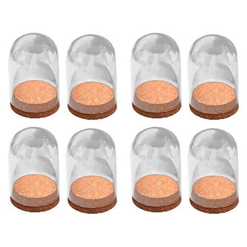 F Fityle Lot de 8 Cloches Verre Bonbonnière Décoration en Verre Borosilicate, 10 cm
