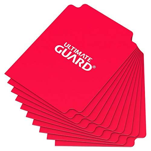 Ultimate Guard - Lot de 10 intercalaires de Taille Standard, Rouge