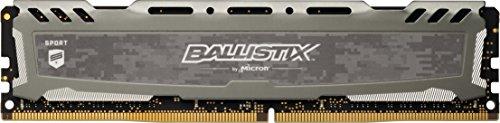 Ballistix Sport LT 8GB Single DDR4 2400 MT/s (PC4-19200) DIMM 288-Pin - BLS8G4D240FSB (Gray)