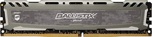 Crucial Ballistix Sport LT BLS8G4D240FSBK Desktop Gaming Speicher (2400 MHz, DDR4, DRAM, 8GB, CL16) grau