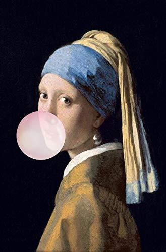 ZNLEY.O Muurcanvas Art Het Meisje Met De Parel Beroemde Schilderijen Reproducties Meisje Met Ballon Pictures Decoratie (Color : PM289, Size (Inch) : 30x45cm no frame)