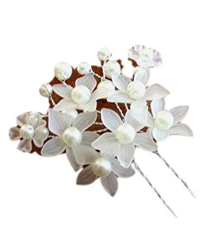 Peigne décoratif de mariage peigne de mariée cheveux coiffe peigne perle fleur cheveux bijoux accessoires de cheveux de mariée (Pearl Flower Burst)