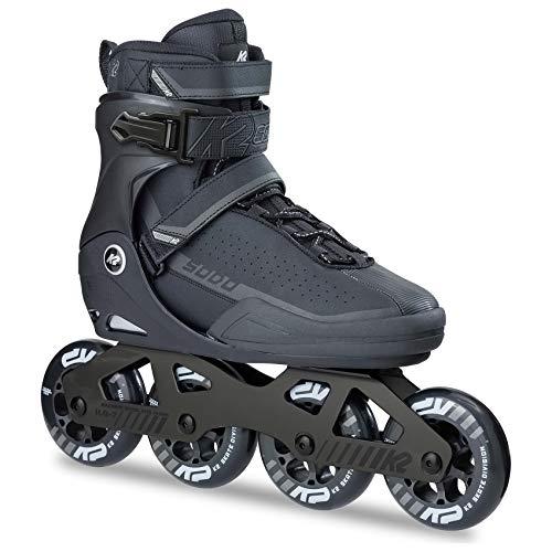 K2 Erwachsene Frauen Männer Fitness Inline Skates Sodo - Schwarz-Grau - EU: 42 (US: 9 - UK: 8) - 30B0024.1.1.090