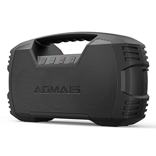 AOMAIS GO Bluetooth Speakers, 40H Playtime Outdoor Portable Speaker, 40W Stereo Sound Rich Bass, IPX7 Waterproof Bluetooth 5.0 Wireless Pairing,10000mAh Power Bank, for Party, Travel [2020 Upgrade]
