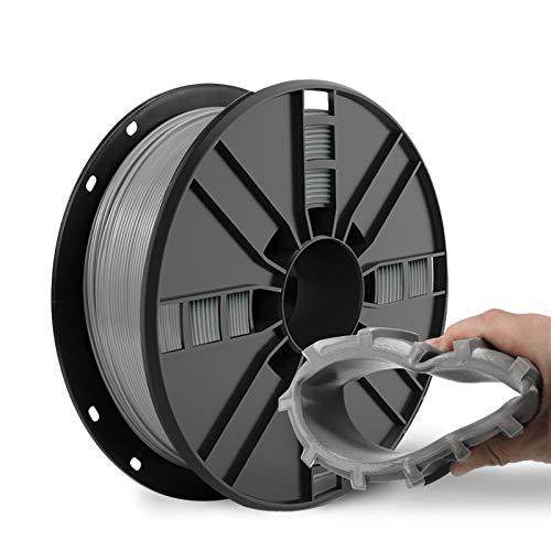 NOVAMAKER TPU Filament 1.75mm, Grey Flexible TPU 3D Printer Filament with 20g Cleaning Filament, 2.0lbs Spool, Dimensional Accuracy +/- 0.05mm, 95A Soft TPU Grey