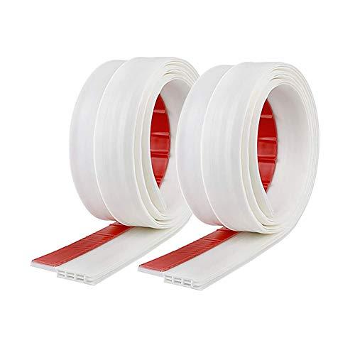 Confezione da 2 Paraspifferi Porta Guarnizione Inferiore Sottoporta Pellicola Insonorizzata Antispiffero Antivento Striscia di Sigillatura Paraspifferi Antipolvere Karinear(100cm x 5cm, Bianco)
