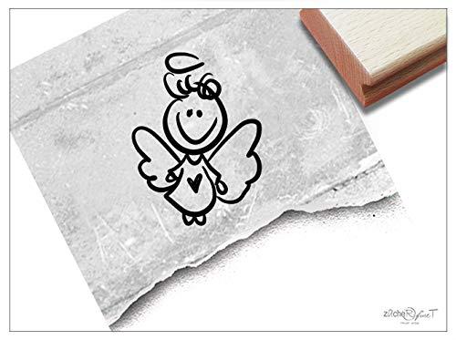 Stempel Motivstempel Engel Schutzengel Engelchen - Kinderstempel Geburt Taufe Geschenk für Kinder Kita Kinderzimmer Basteln Deko - zAcheR-fineT