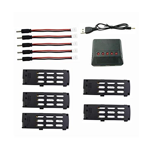 DishyKooker 3.7v 800mah Lithium Batterie Mit 5 In 1 Ladegerät Für A15 A15h Folding Quadcopter Zubehör Fernbedienung Drone Batterie 4 Stück