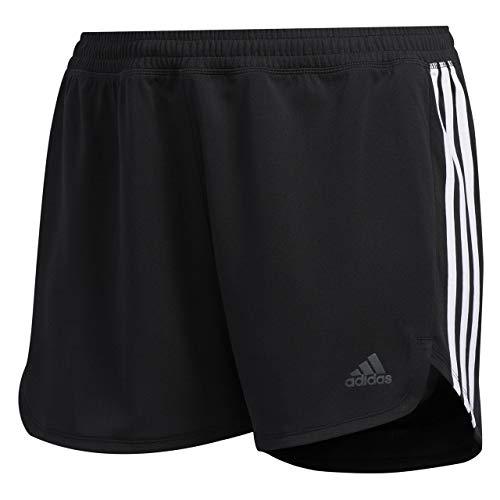 adidas 3s Knit Short Pantalones Cortos de Deporte, Mujer, Black/White, 2X
