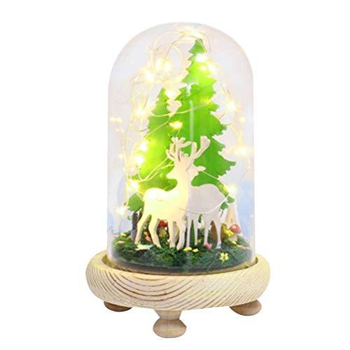 YeahiBaby Weihnachtsbäume Glaskuppel Leuchten Weihnachten Schnee Globus Weihnachten hängende Dekoration Ornament