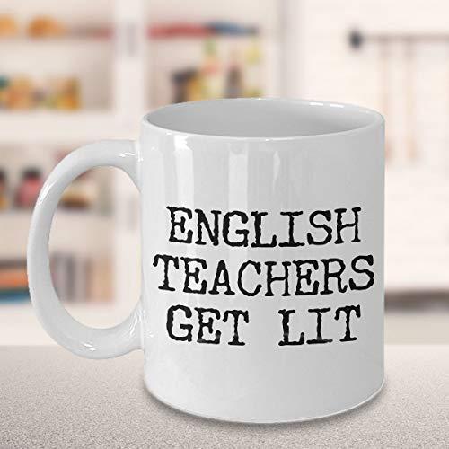 English Teacher Gift English Teacher Mug English Teachers Get Lit Mug Funny Literature Coffee Mug Ceramic English Teacher Coffee Cup
