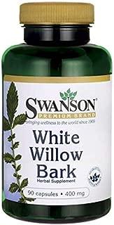 Swanson White Willow Bark 400 Milligrams 90 Capsules