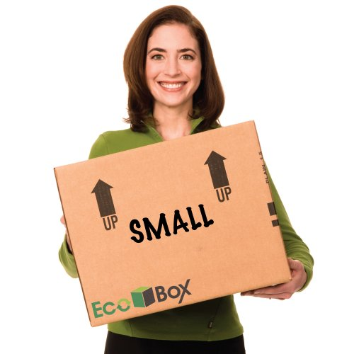 EcoBox Small Moving Boxes Genuine Size 16 x 12 x 12 Inches,  Pack of 15 (V-6823)