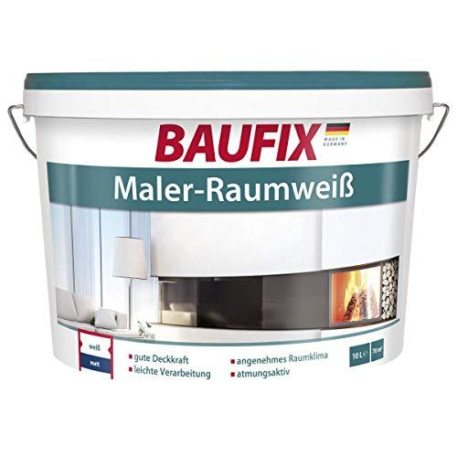 BAUFIX Maler-Raumweiß Dispersionsfarbe Weiß