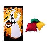 Eternitry Banderas de Fieltro de Calabaza para lanzar, Divertidos Juegos de Disparos para niños, Fantasmas, Sacos de Arena de Feliz Halloween para decoración de Halloween