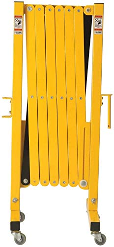 Industrial Safety Gate | Portable Safety Barrier & Retractable Fence with Casters | Portable Fence Expandable Gates | Mobile Safety Barrier | Expandable Security gate