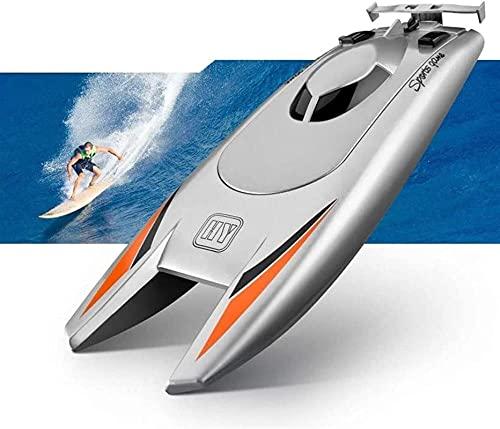 RC Boat 2.4G Barco de Control Remoto de Alta Velocidad Anti-Collision RC Speed Boat Doble Motor Modelo Grande Control Remoto Barco