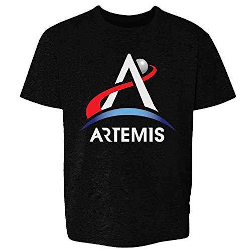 NASA Approved Artemis Program Emblem Moon Mars Black M Youth Kids Girl Boy T-Shirt