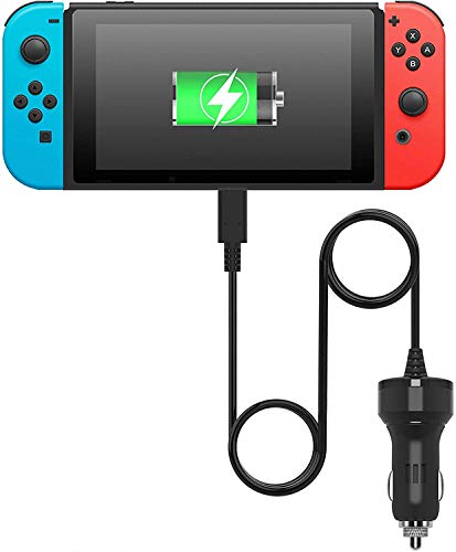 Switch Car Charger for Nintendo Switch Lite High Speed Portable Power Adapter for Travel Switch Accessories 6.6 FT USB Type-C Charger Cable
