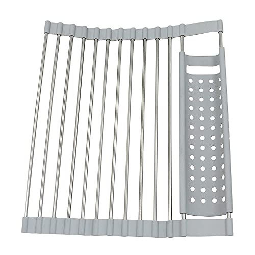 Komake Escurreplatos Enrollable Multiusos,Roll Up Dish Drying Rack,Escurreplatos Plegable,Escurreplatos Plegable de Acero...
