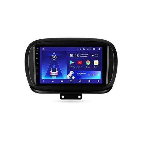 XXRUG Android Car Stereo Sat Nav para Fiat 500X 2014-2020 Unidad Principal Sistema De Navegación GPS SWC 4G WiFi BT USB Mirror Link Pantalla Táctil Cámara De Respaldo