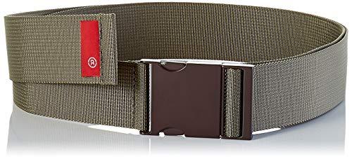 LEVIS FOOTWEAR AND ACCESSORIES Herren Metal Clip Web Belt Gürtel, Grün (Light Green 31), 90 (Herstellergröße: L/XL)